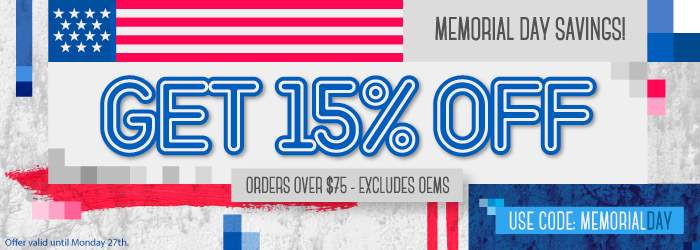Memorial Day Savings! Get 15% ink and toner cartridges. Orders over $75.Excludes oems. Use code: MD15. Offer valid until Monday 27th.