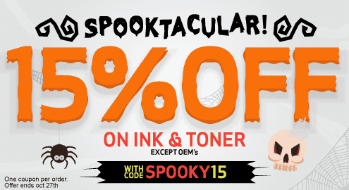 Get Ready for Halloween. $15 Off orders over $100 excludes OEM's. Save with code: HALLOPREP. One coupon per order. Offer valid thru Oct 16th