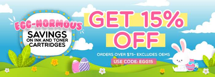 Egg-normous Savings on Ink and Toner Cartridges. Get 15% OFF orders over $75. Excludes OEMs. Use code: EGG15