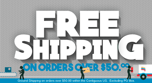 Free Shipping on orders over $50.