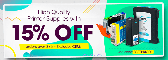 High Quality Printer Supplies with 15% OFF -orders over $75. Use code: bestprices. Excludes OEMs
