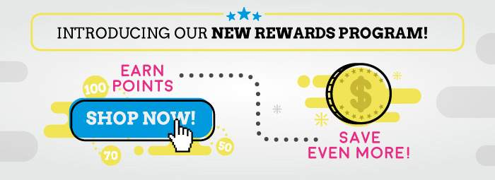Introducing our new rewards program! Earn points…save even more!