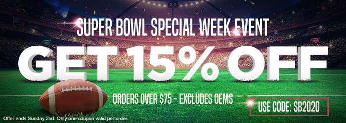 Super Bowl Special Week Event. Get 15% OFF ink and toner orders over $75 excludes OEMs. Use code: SB2020. Offer ends Sunday 2nd. Only one coupon valid per order.