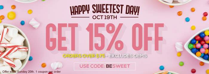 Happy Sweetest Day! Oct 19th. Get 15% off Ink and Toner orders over $75. Use Code: BESWEET Offer ends Sunday 20th. 1 coupon per order